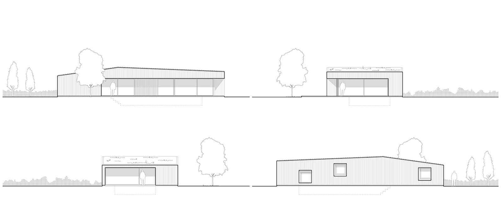 gyd architecture | pool house elevations
