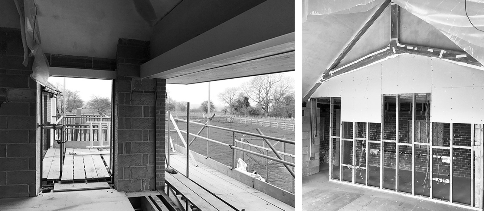 gyd architecture   large openings ready for sliding doors
