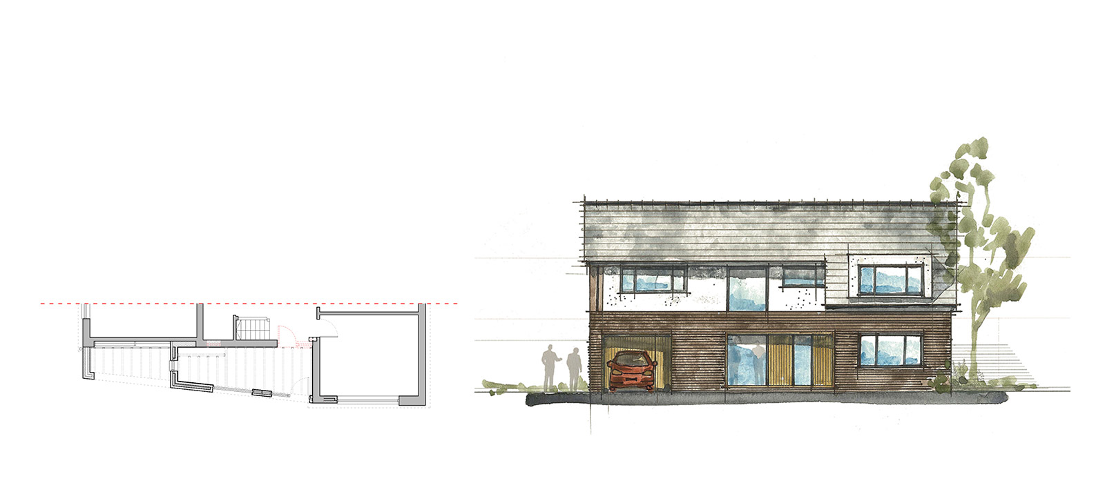 gyd architecture | sketches at concept stage