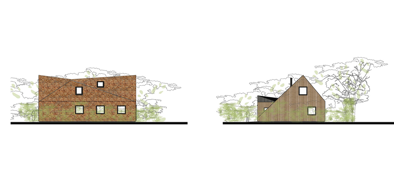 gyd architecture | elevations of timber framed eco house