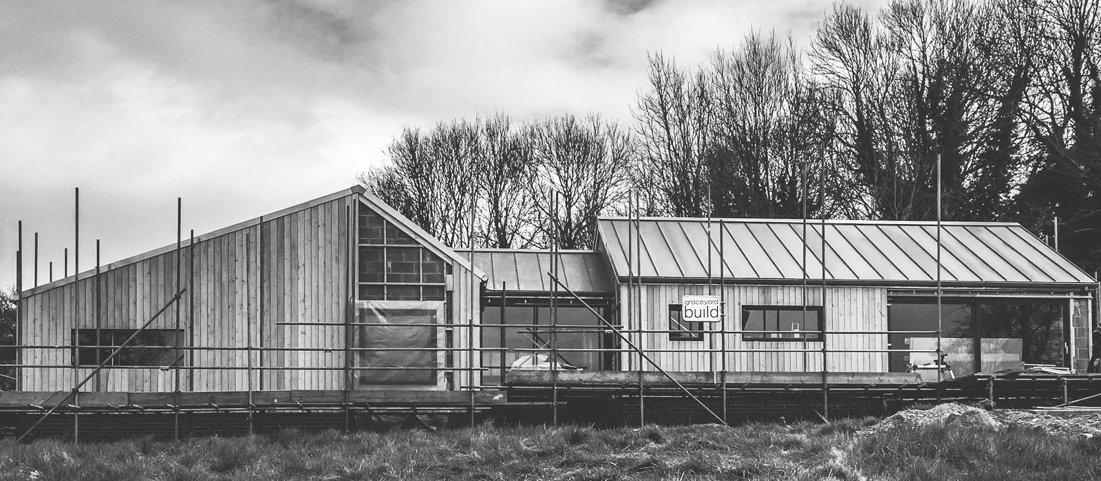 gyd architecture | new build house under construction front elevation
