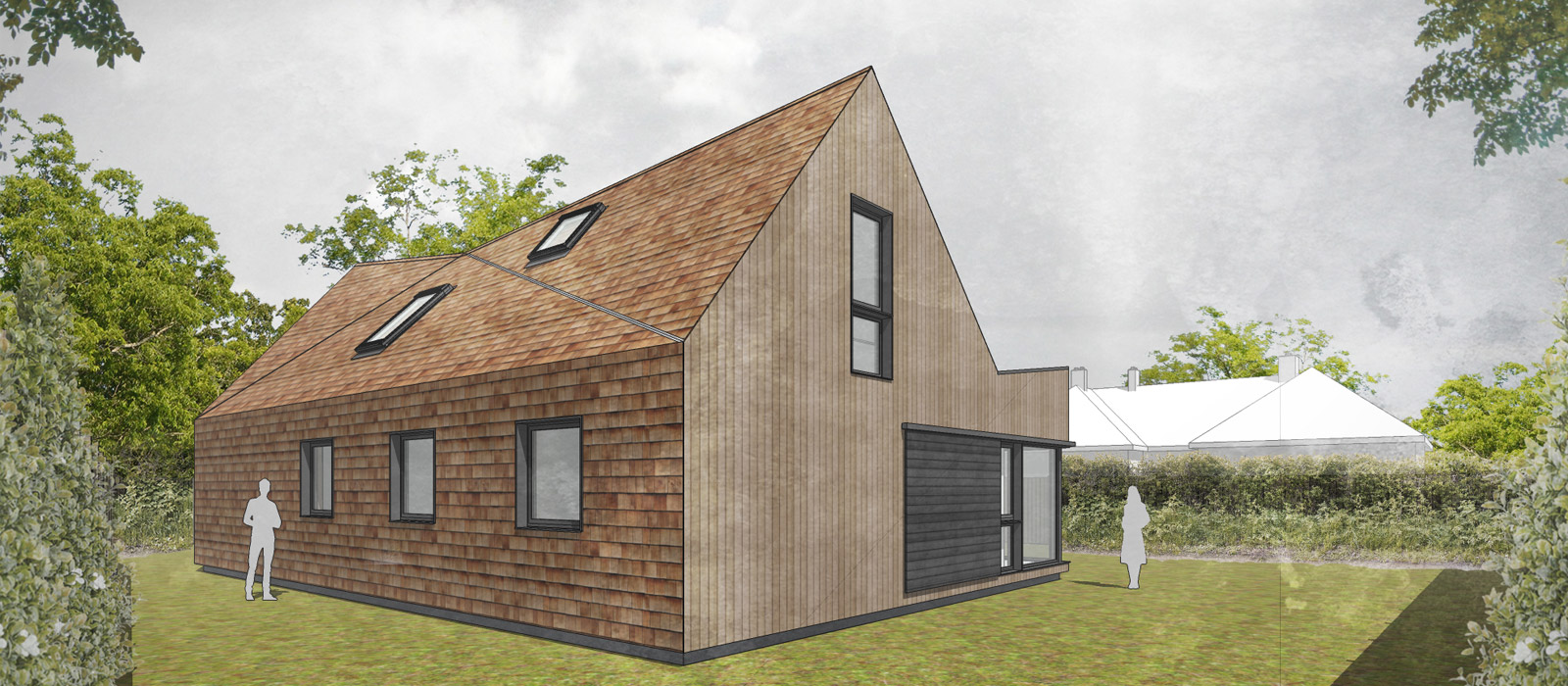 gyd architecture | 3D render of the rear elevation