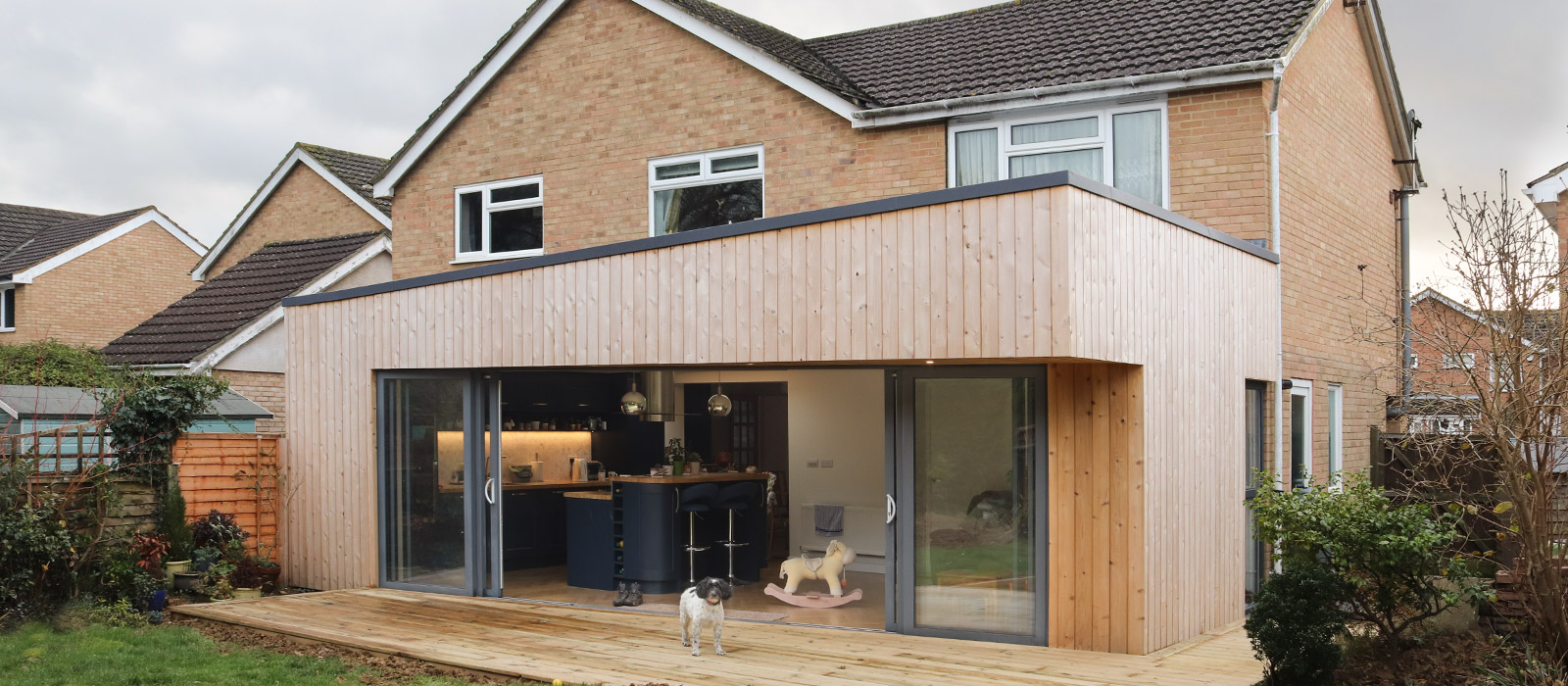 gyd-architecture | timber finished elevation of extension