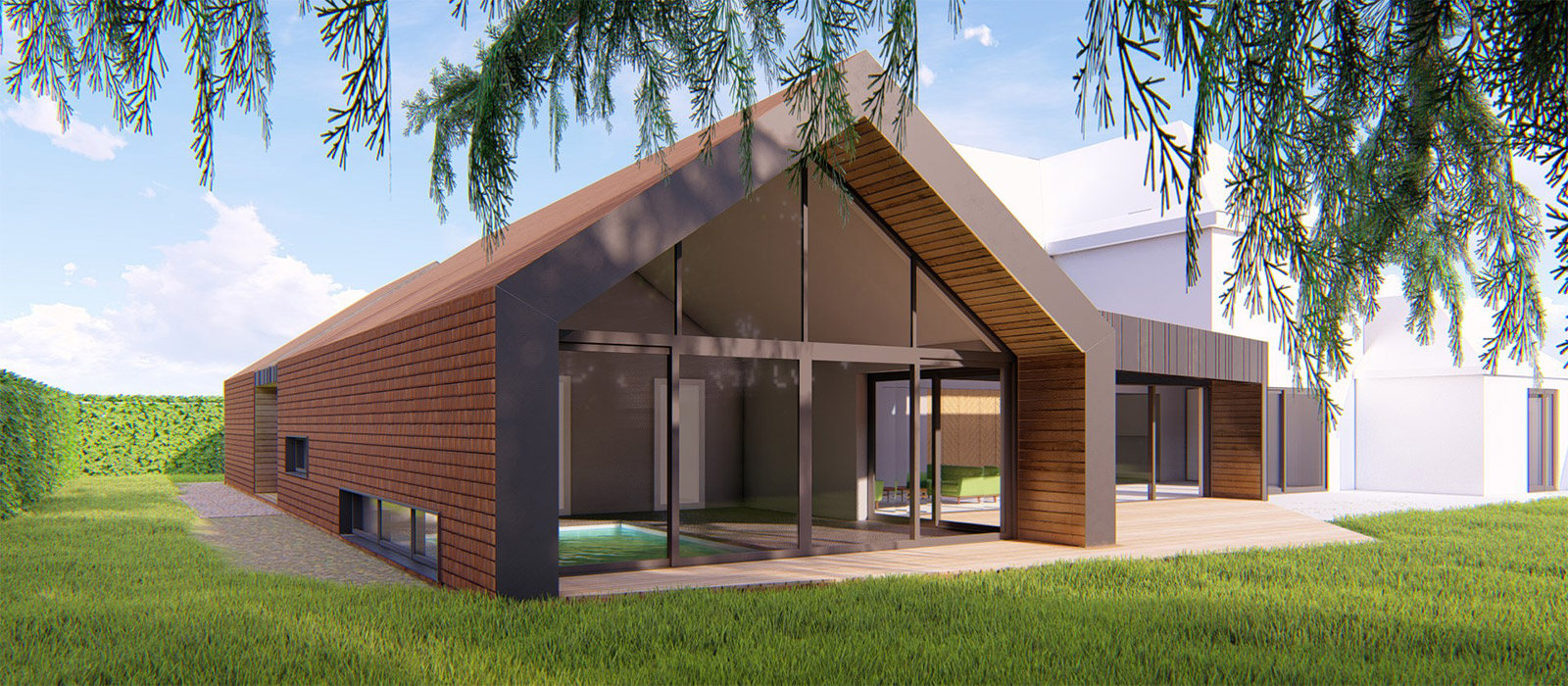 gyd-architecture | 3D render of approved planning drawings