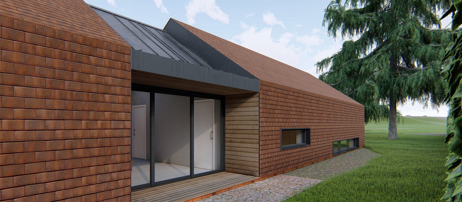gyd-architecture   3D render showing materials