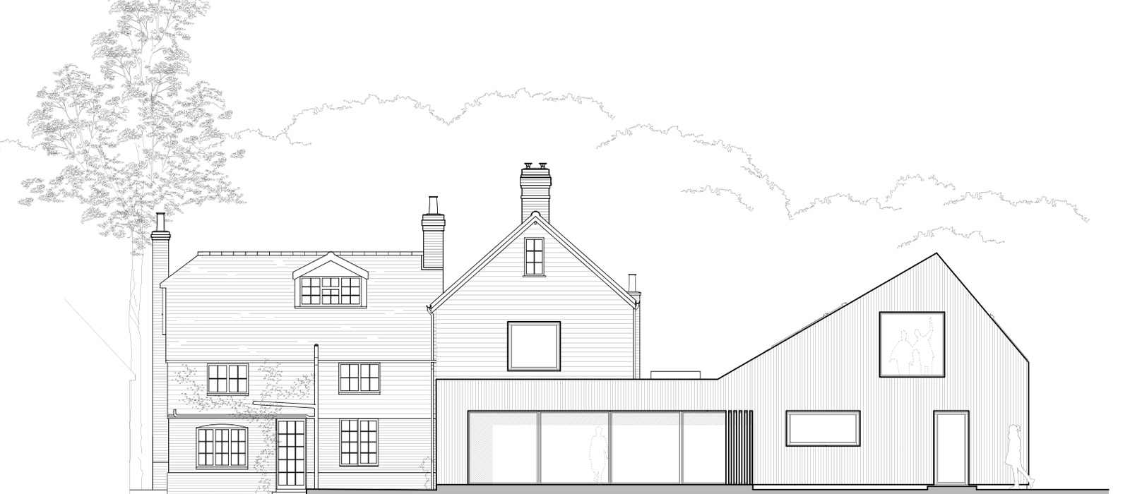 gyd-architecture | Rear elevation of approved plans