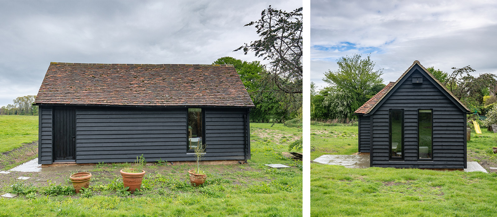 gyd-architecture | kent peg tiled roof with black cladding