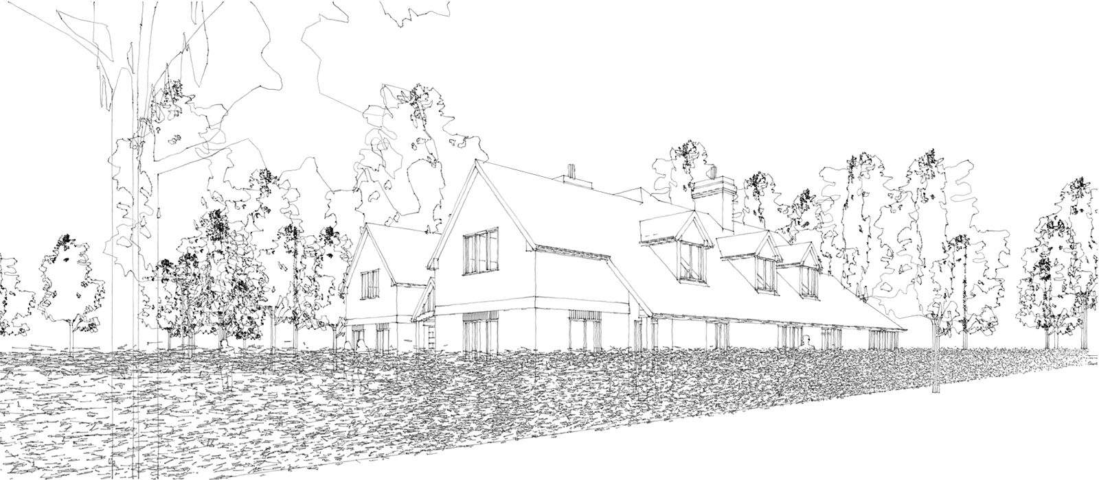 gyd-architecture | Sketch render of approved planning drawings