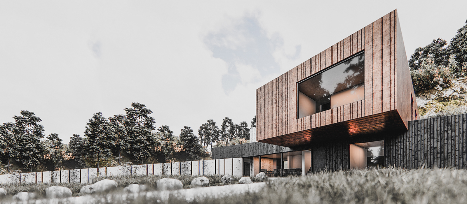 gyd architecture | elevation with corten finish